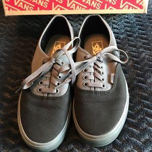Vans Shoes - Vans Back & Grey, Mens 8 Womens 9.5 w/Box